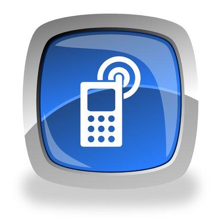 cellphone internet button Stock Photo