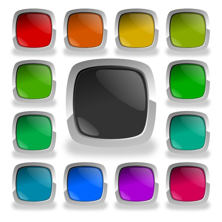 magnific: colorful glossy buttons Stock Photo