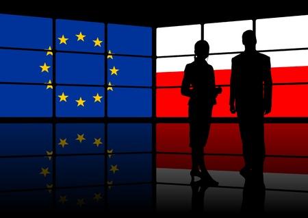 multimedia center european union and poland presentation Stock Photo - 9045238
