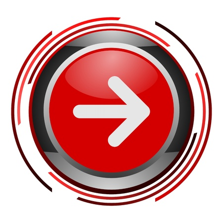 red glossy arrow button Stock Photo - 9045260