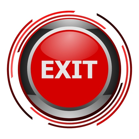 exit glossy icon photo