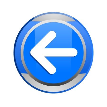 boton flecha: bot�n de la flecha azul brillante Foto de archivo
