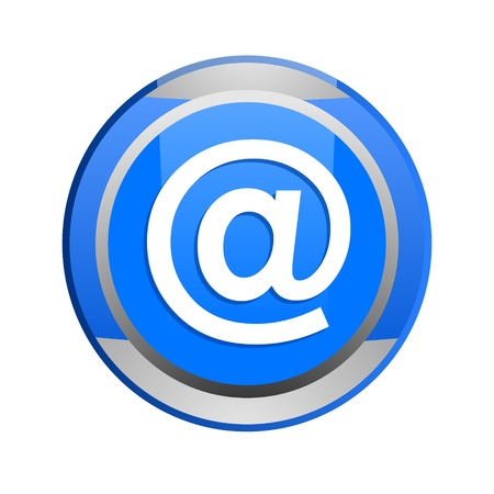 e-mail glossy icon Stock Photo - 9045234