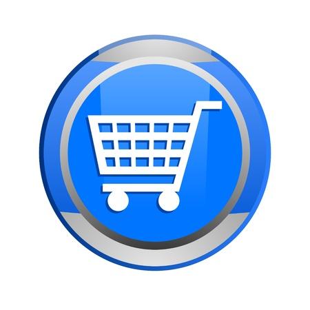 shopping cart glossy icon Stock Photo - 9045227