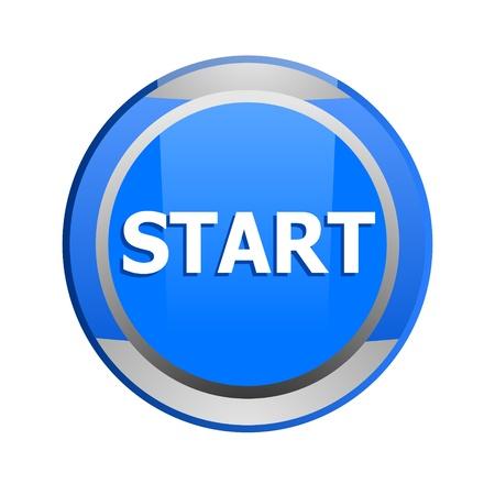 start glossy icon Stock Photo