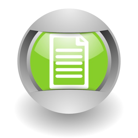 document steel green glosssy icon photo