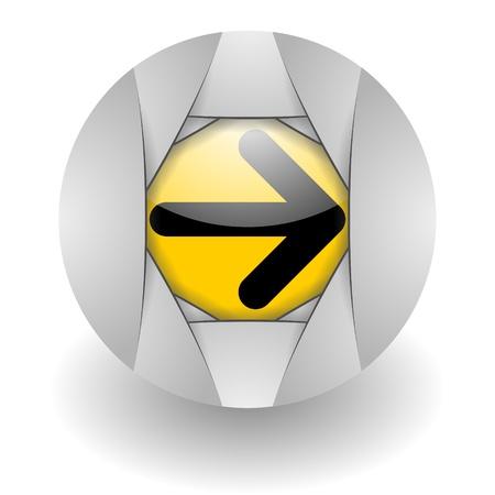 steel glosssy arrow icon photo