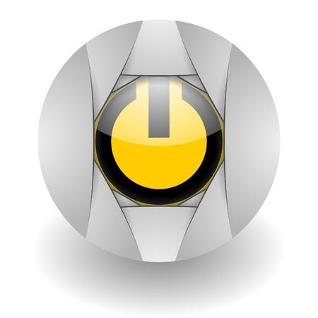 power steel glosssy icon Stock Photo - 9045385