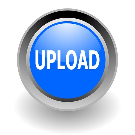 upload steel  glosssy icon Stock Photo - 9069751