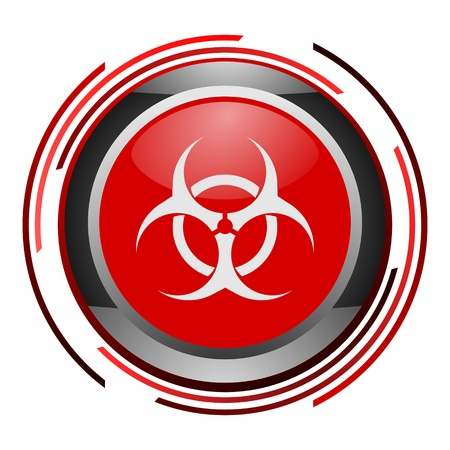biohazard glossy icon Stock Photo - 9088778