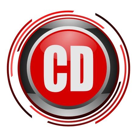 cd glossy icon Stock Photo - 9088758