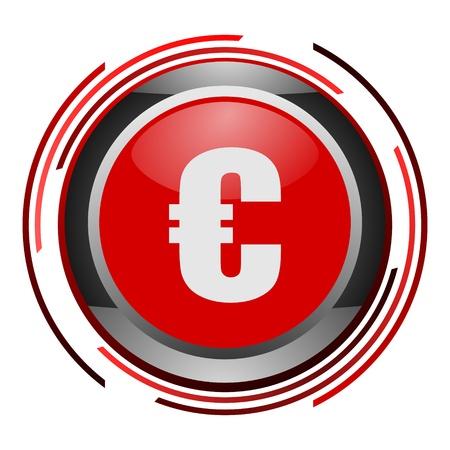 euro glossy icon Stock Photo - 9088755