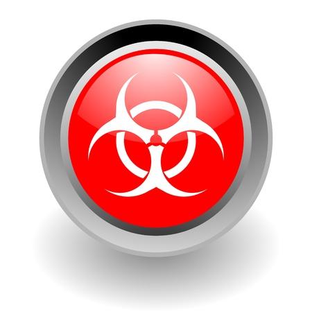 biohazard steel glosssy icon Stock Photo - 9188424