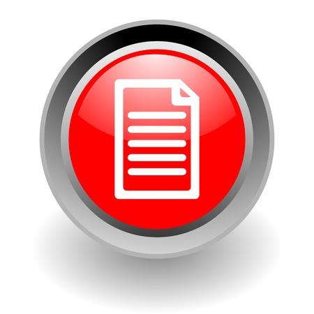 txt: document steel glosssy icon Stock Photo