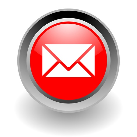 webmail: mail steel glosssy icon Stock Photo