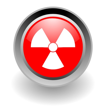 nuclear steel glosssy icon Stock Photo - 9188365