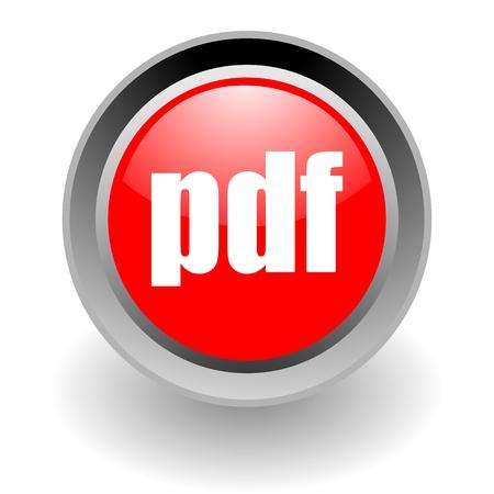 pdf steel glosssy icon photo
