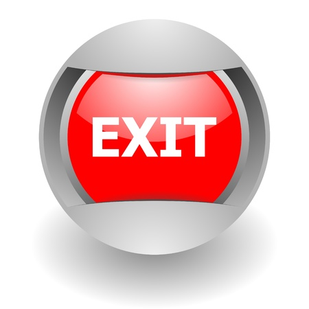 exit steel glosssy icon photo