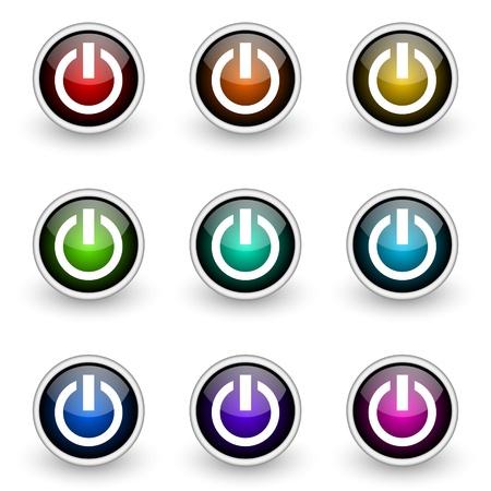 power vector button set Vector