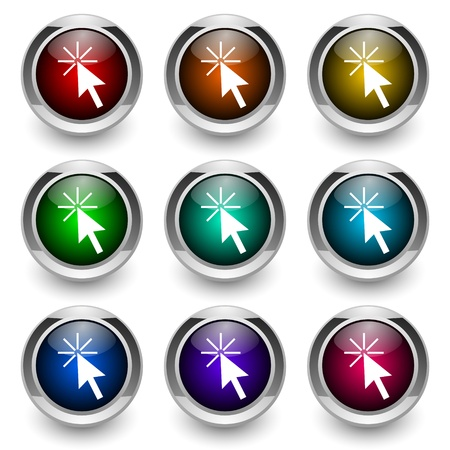 cursor button set Stock Photo - 9460871
