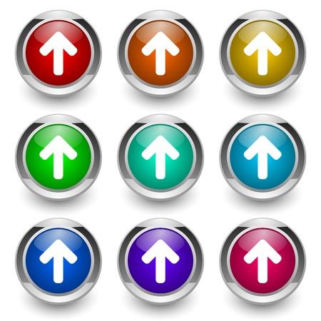 boton flecha: Grupo de botones de flecha Foto de archivo