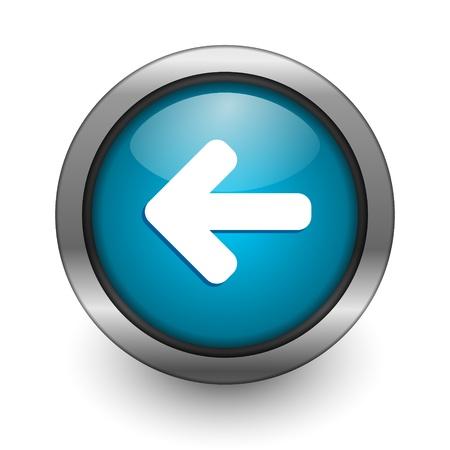 boton flecha: bot�n de flecha izquierda Foto de archivo