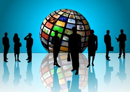 telecomm: business team Stock Photo