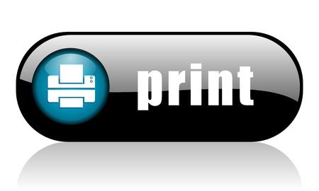 impresora: Icono de impresi�n Foto de archivo