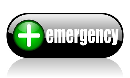 first aid sign: emergency banner