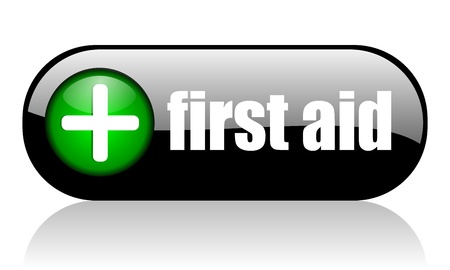emergency button: first aid banner