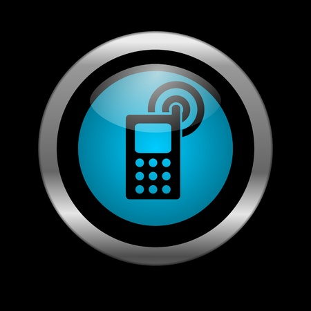 mobile phone icon Stock Photo - 10026499