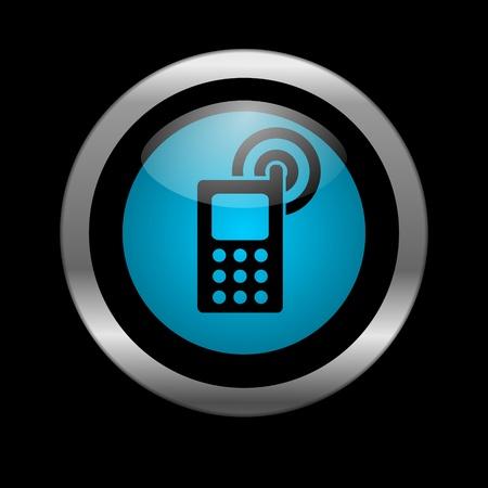 mobile phone icon Stock Photo - 10026499