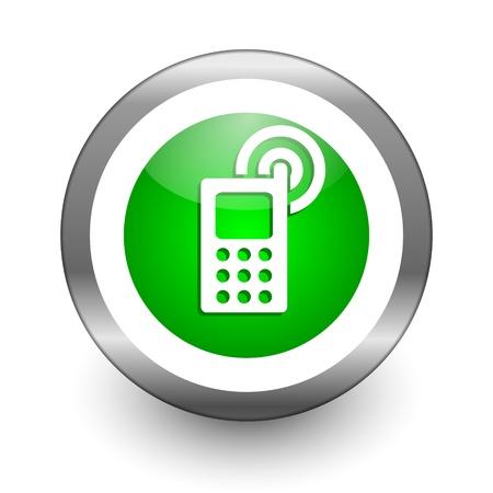 mobile phone icon Stock Photo - 10026534