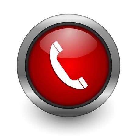 call icon: telephone icon Stock Photo