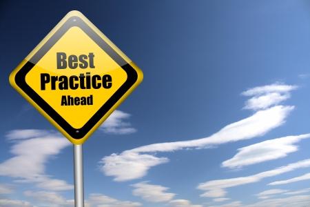 best practices: best practice sign