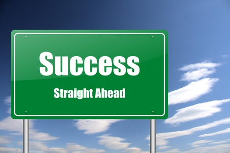 action plan: success traffic sign