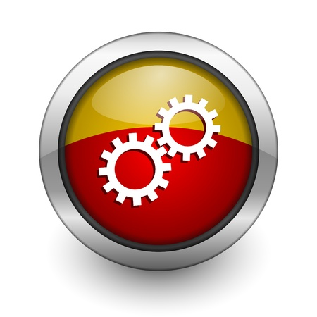 gear icon Stock Photo - 10128445