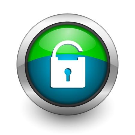 password: icono de protecci�n Foto de archivo