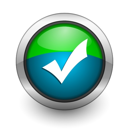 yes button: validation icon Stock Photo