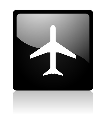 pushbuttons: plane icon Stock Photo