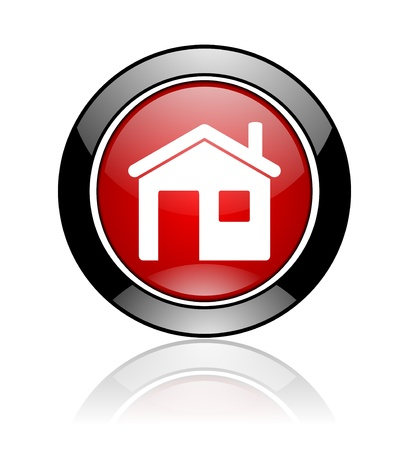 click here: home icon Stock Photo