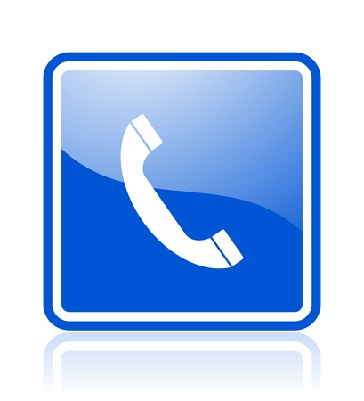 call center icon: phone icon Stock Photo