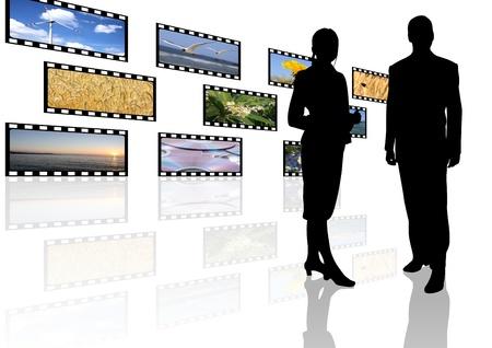 multimedia: multimedia center business presentation Stock Photo