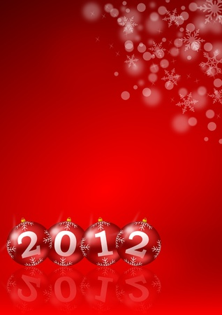 new year illustration with christmas balls Stock Illustration - 10812631