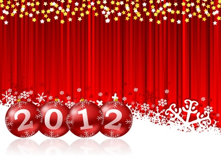 new year illustration with christmas balls Stock Illustration - 11020734