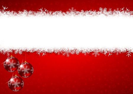 christmas background with snowflakes and christmas balls photo