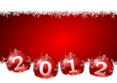 new year illustration with christmas balls Stock Illustration - 11105490