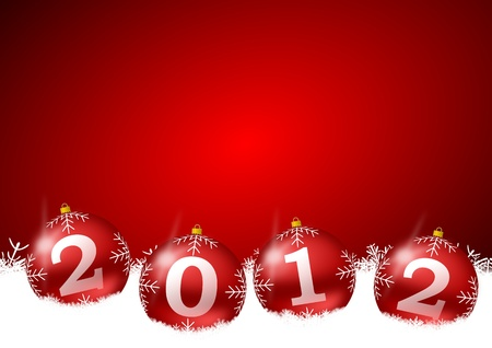 new year illustration with christmas balls Stock Illustration - 11105485