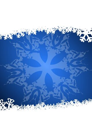 blue christmas background with snowflakes Stock Photo - 11222021