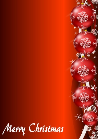 Christmas Background with christmas balls and snowflakes photo